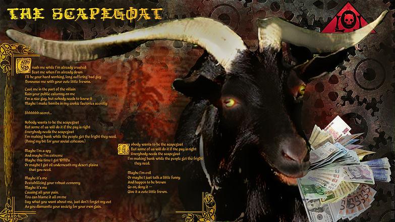 The Lowest of Low Scapegoat Lyrics Sheet background goat image