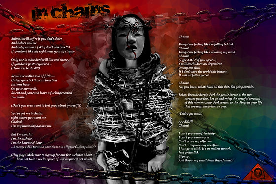 The Lowest of Low In Chains Lyrics Sheet album art Nekrololikon song barbed wire mask suffering Christ-like image