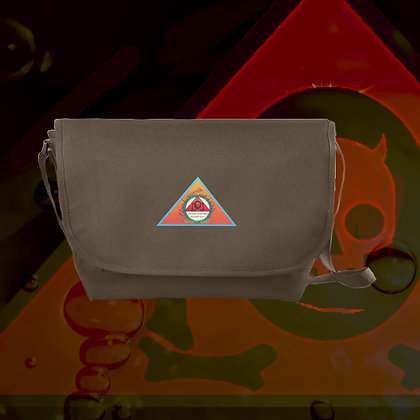 The Lowest of Low Purveyors since 2418 badge nylon messenger bag