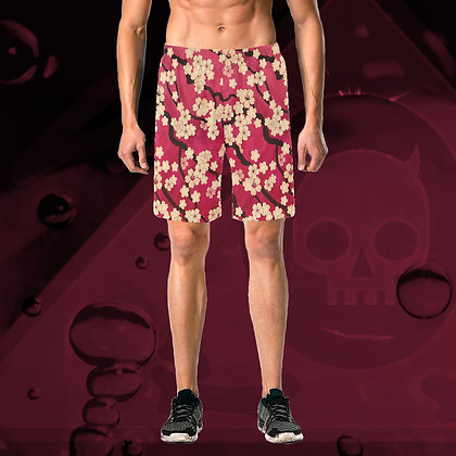 The Lowest of Low Sakura Breeze All-Over Print Swim Trunks Beach Shorts Casual Elegant (6 Colours) Hawaii