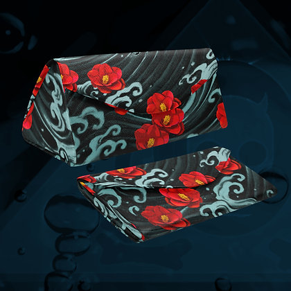 The Lowest of Low floral design Kurosawa Camellias magnetic glasses case folding  strong magnet closure elegant gift idea