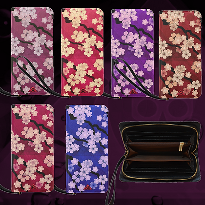 The Lowest of Low Sakura Breeze Clutch Purse Wallet Bags 6 colors sturdy and awesome!
