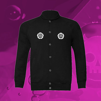 The Lowest of Low Kamon Samurai Baseball Jacket, front view