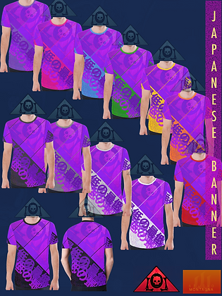 Men's Japanese Banner All-Over Print T-shirts CHILL VIOLET