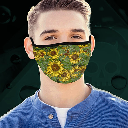 Sunflower Field Face Mask, 3 Sizes