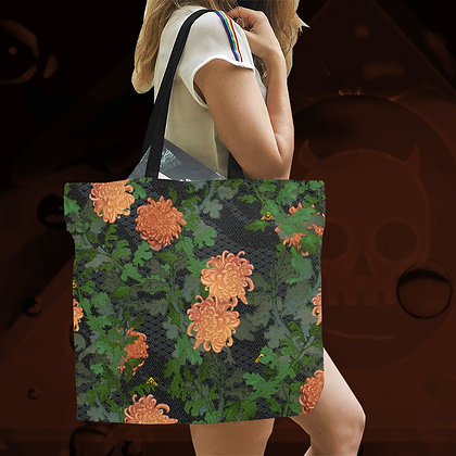 The Lowest of Low Chrysanthemum 2020 All-Over Print large canvas tote bag beach school work shopping eco reusable sturdy