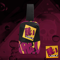 UGLY logo chest bag Tang Black The Lowest of Low