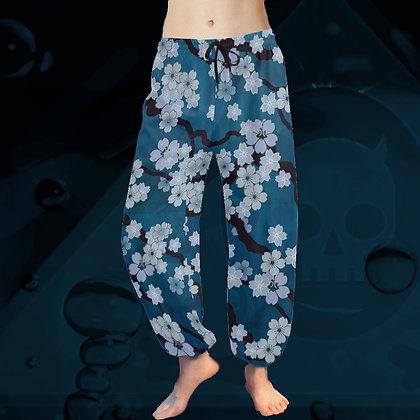 The Lowest of Low Sakura Breeze Taiji Tai Chi Harem Yoga chiffon relaxed beach pants Night Blossoms