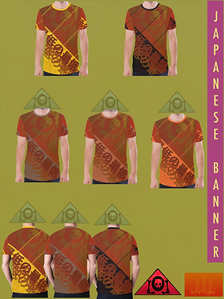 Japanese Banner All-Over Print T-shirts LATE AUTUMN