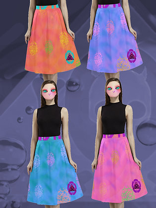Ripples Crepe Poodle Skirt