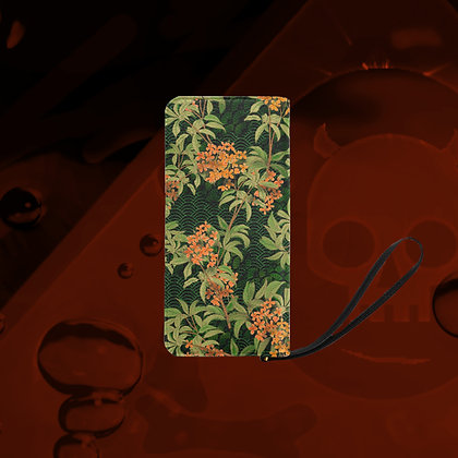 The Lowest of Low Kinmokusei clutch purse wallet bag sturdy compact fabulous strong metal zipper floral design