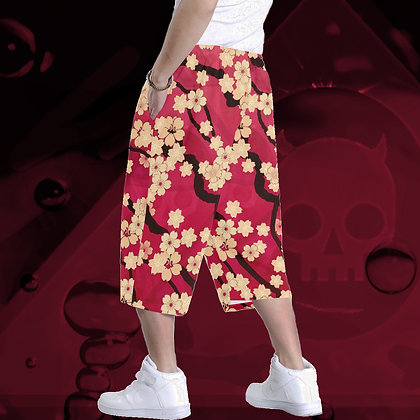 The Lowest of Low Sakura Breeze All-Over Print Baggy Shorts (6 colours) ultimate comfort roomy style Hawaii