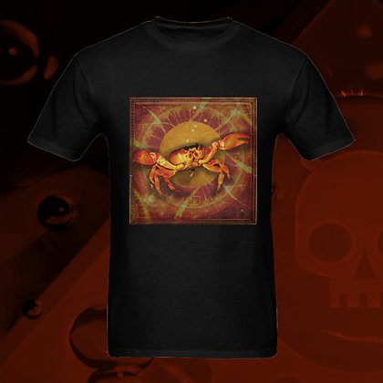 The Lowest of Low Cancer the Crab Astrology Zodiac sign 100% Cotton T-shirt front esoteric colors US Sizes S M L XL 2XL 3XL