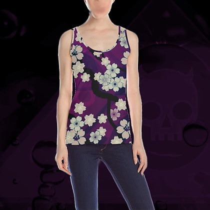 The Lowest of Low Sakura Breeze all-over print tank tankini tops in 6 colors (Chill Violet)