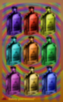 The Lowest of Low Snake Oil Lyrics Sheet pop art Empire album music Warhol inspired psychedelic dumbed down population consumerism politics Capitalist drink drug culture art image