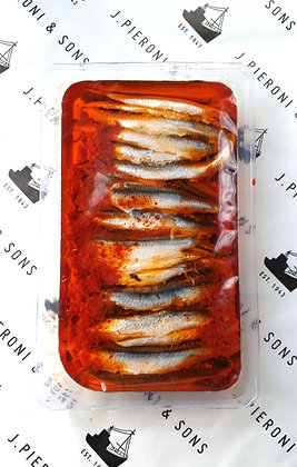 Oriental Marinated Anchovy Fillets