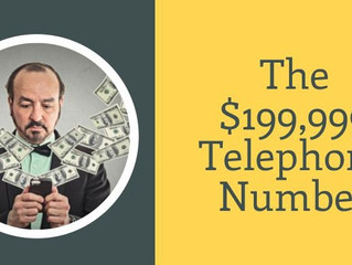 Asset Values:  The $199,999 Telephone Number