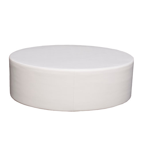 Oval Ottaman White Couch
