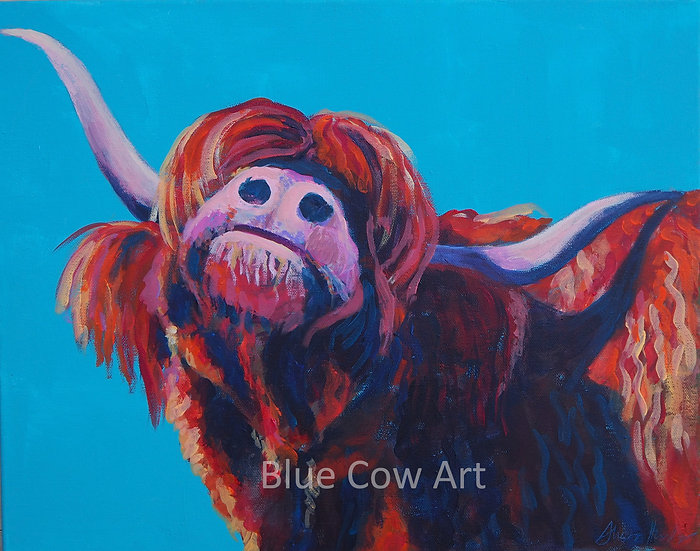 "Highland Cow ""Strike a Pose"" Print - BCA47"
