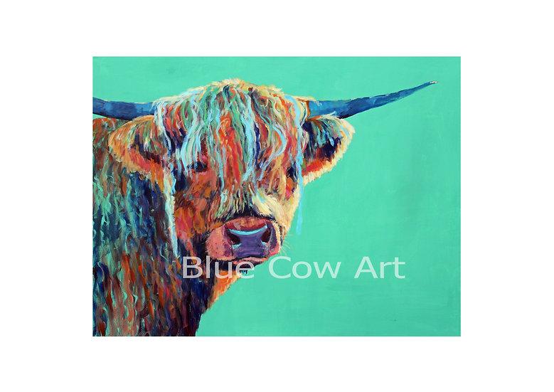 Highland Cow A4 Print - BCA15