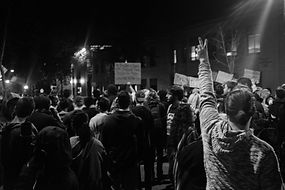 """Photojournalistic shot: """"Black lives matter"""" protest in Berkeley (CA) by Luca Boveri"""
