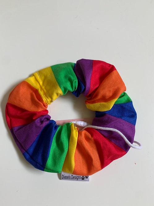 Rainbow scrunchie