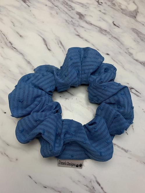 Royal Blue Striped Scrunchie