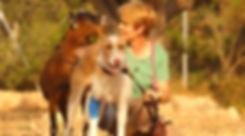 Gabriela-mit-einer-ihrer-Ziegen-und-PHF-Podenco-Laslo