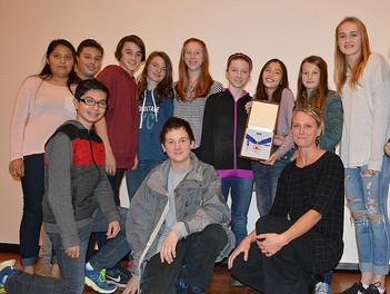 Sarah Segal receives the Gilder Lehrman Oregon History Teacher of the Year award