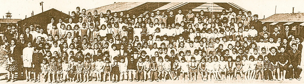children at Tule Lake concentration camp in California during World War II