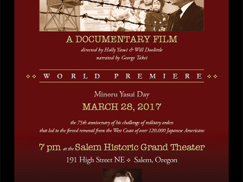 WORLD PREMIERE - Minoru Yasui Day, March 28, 2017 in Salem, Oregon