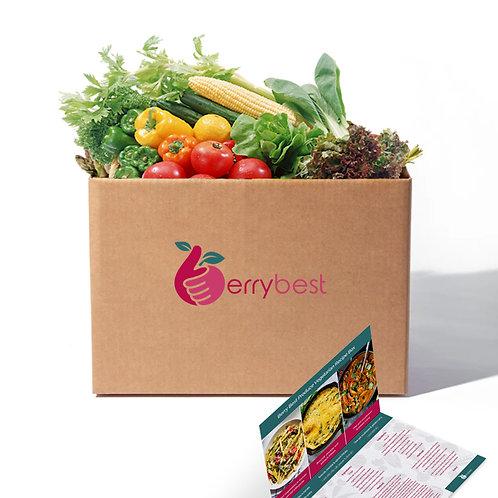 Vegetarian Recipe Box (All ingredients & recipe card)