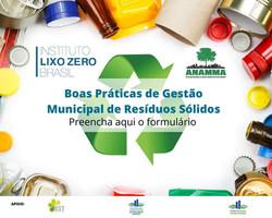 Boas Práticas de Gestão Municipal de Resíduos Sólidos