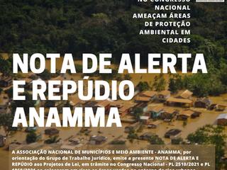 NOTA DE ALERTA E REPÚDIO ANAMMA