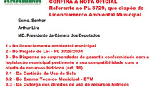 CONFIRA A NOTA OFICIAL REFERENTE AO PL 3729