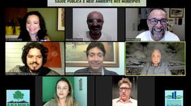 "🌎 Webinar ""Saúde Pública e Meio Ambiente nos Municípios"" 🌳🦋"