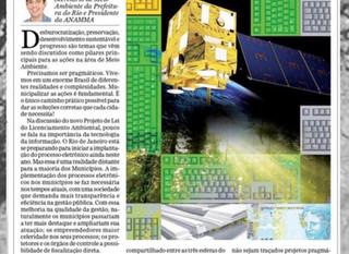Artigo Sobre a Municipalização Ambiental nos Municípios
