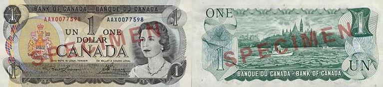1969 - 1975 1 dollar