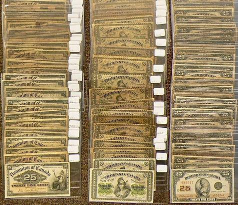 25 cents Canadiens en papier   25 cents banknotes