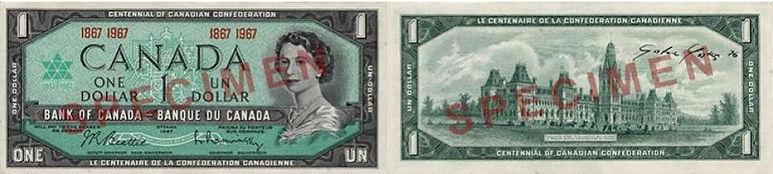 1 dollar 1967