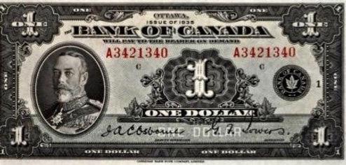 LEDOLLAR CANADIEN THE CANADIAN DOLLAR 1935