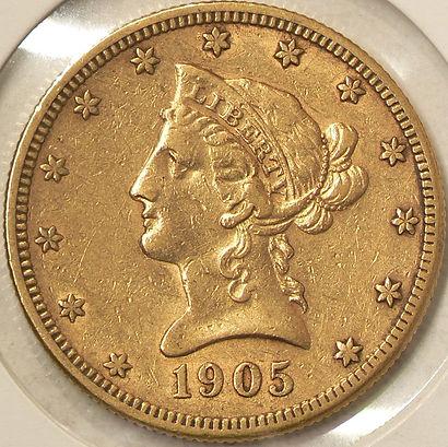 10$ Américain en Or American Gold$10 (1838-1907)