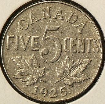 1925 PIÈCE DE 5 CENTS 5 CENTS COIN 1925