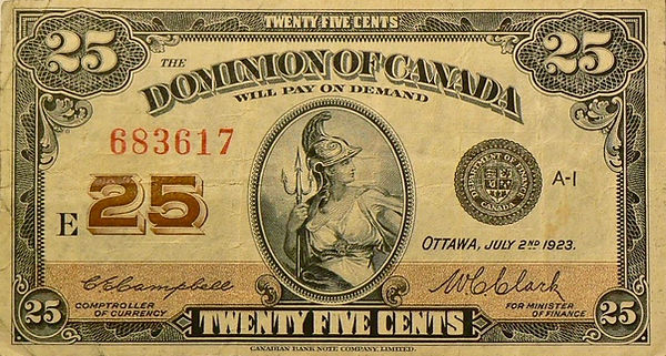 25 cents 1923