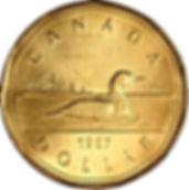 Piècede 1987 Revers - 1987 Coin Reverse
