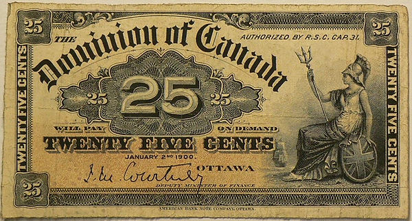 25 cents 1900