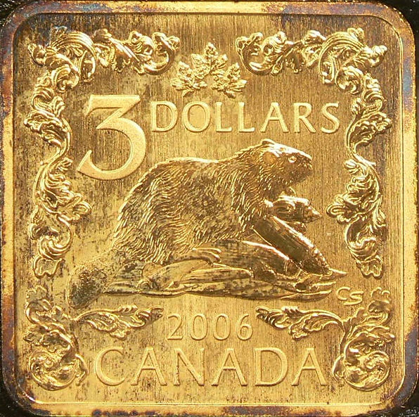 3 DOLLARS2006PLAQUÉ OR / GOLD PLATED