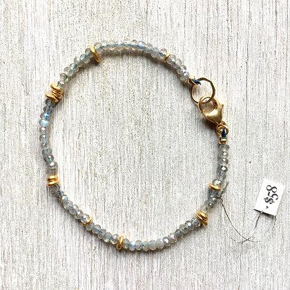 light labradorite and vermeil bracelet