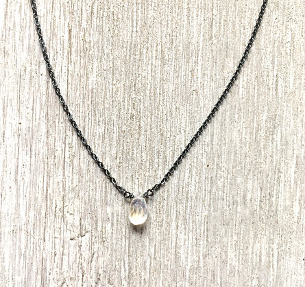 moon on black necklace