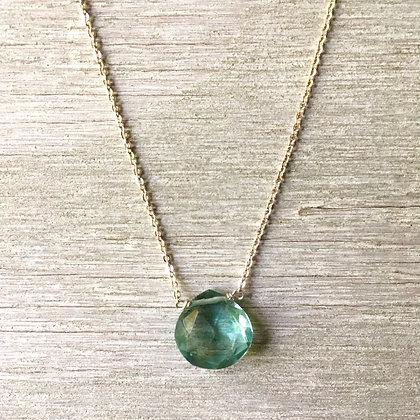 light blue quartz on silver